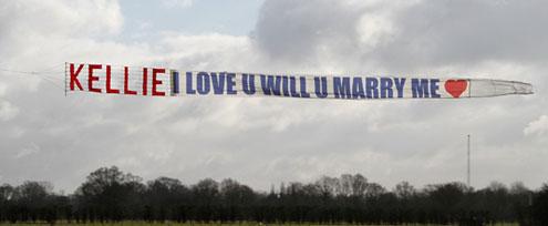 Plane proposal banner